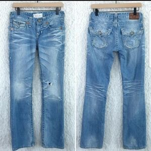 Big star light wash jeans.